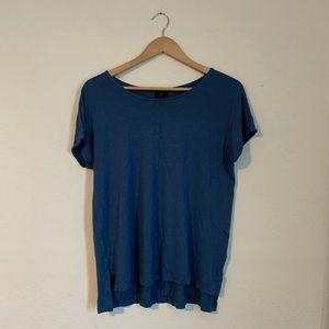 Worthington Blue Short Sleeve Top Size Large